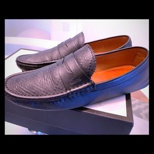 Gucci micro soft men's loafers